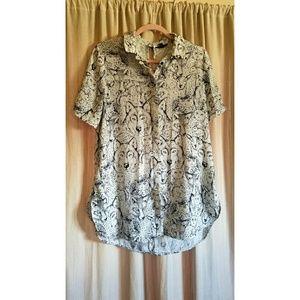 Topshop oversized button up shirt